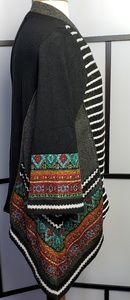 Berek RARE multicolored sweater/fabric cardigan